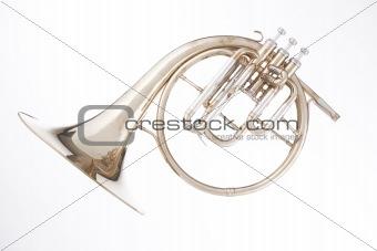 French horn Peckhorn Isolated on White
