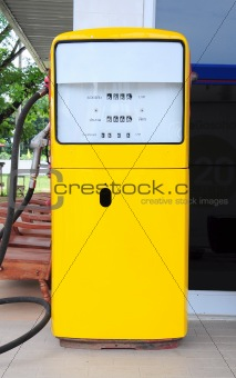 old analog gas pump