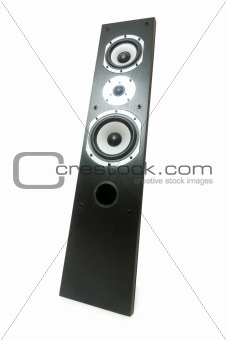 One speaker isolated on the white background
