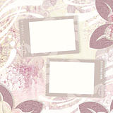 Vintage floral background and two frames