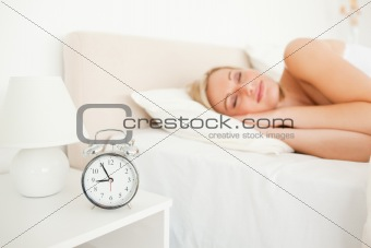 Quiet woman sleeping