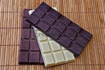 three chocolate bars