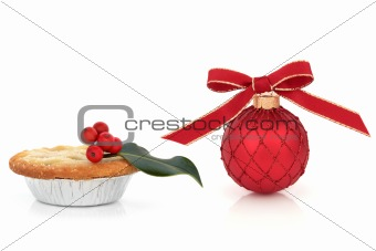Christmas Bauble with Mince Pie