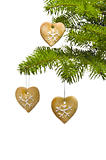 Tree heart shape cookies as Christmas tree decoration