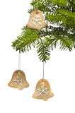Tree bell shape cookies as Christmas tree decoration