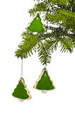 Tree tree shape cookies as Christmas tree decoration