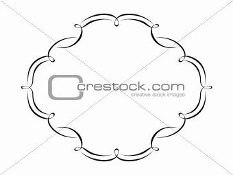calligraphy penmanship ornamental frame