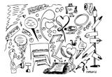 hand drawn dialoque symbols