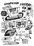 hand drawn icons from computer history
