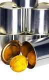 expired lemon on a tin can