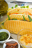 assorted panini sandwich