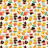 seamless cake pattern