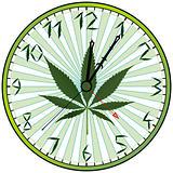 cannabis green clock