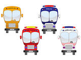 city vehicles set