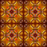 flowers seamless geometric pattern