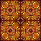 flowers seamless geometric pattern