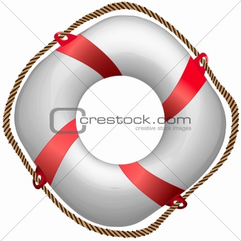 twisted red life buoy