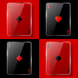 Glass poker aces