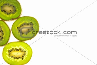sliced kiwi background