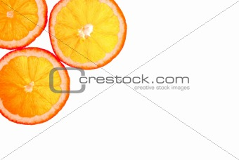 sliced orange background