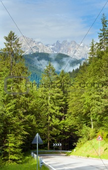 Dolomites mountain summer view