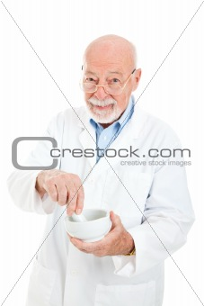 Pharmacist with Mortar and Pestle