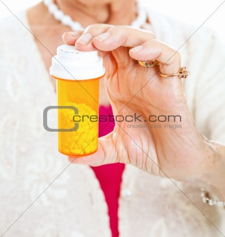 Senior Holding Prescription Pills