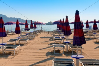 sand beach in Giardini Naxos
