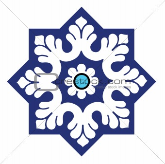 Arabesque Islamic motif