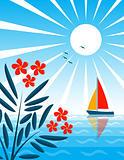 oleander and sea
