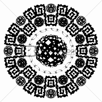 Abstract circular arabesque