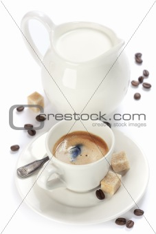 italian espresso and milk