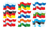 Three-coloured flags
