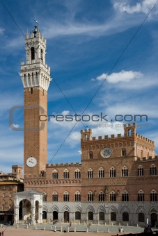 The Torre del Mangia, Sienna