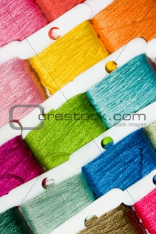 Multicoloured cotton threads