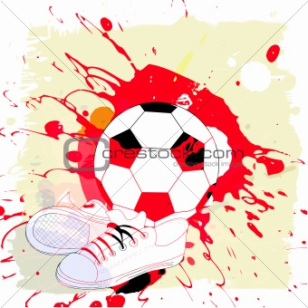 Abstract background with football pattern