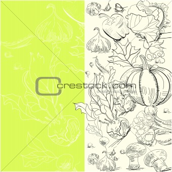 Background with vegetables