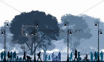 Walking Crowd