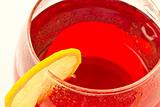 Hibiscus tea with lemon