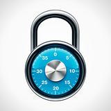 Vector combination padlock