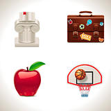 Vector school icons. Part 4