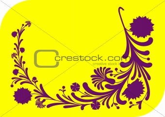 Abstract lilac floral ornament