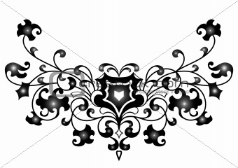 Abstract ornament in black color