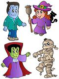 Cartoon Halloween characters 1