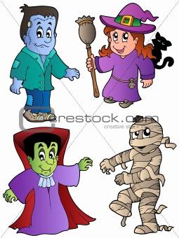 Cartoon Halloween characters 1