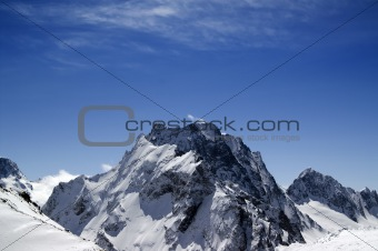 Caucasus Mountains. Mount Dombay-Ulgen.