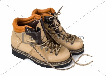 Pair of hiking boots