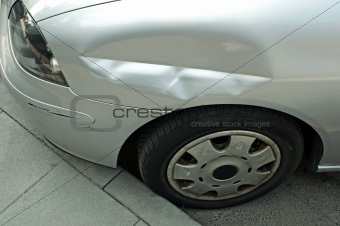 Scraped and crushed car