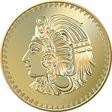 Mexican coin with the image of the Indian