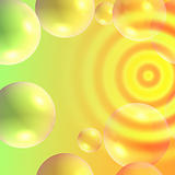 bright abstract background with bubbles